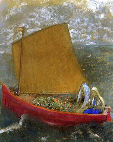 Wall Art - Painting - The Yellow Sail, 1905 by Odilon Redon