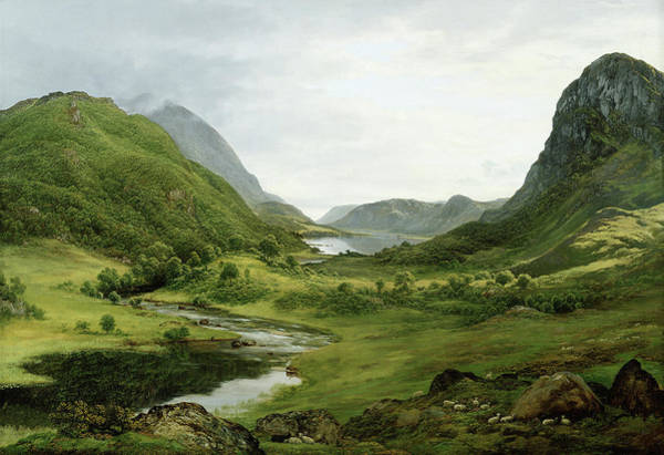 Wall Art - Painting - Thirlmere by John Glover