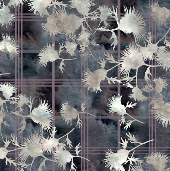 Digital Art - Thistle Plaid  by Sand And Chi