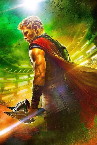 Wall Art - Digital Art - Thor Ragnarok 2017 by Geek N Rock