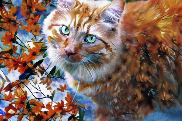 Digital Art - Those Eyes by Peggy Collins