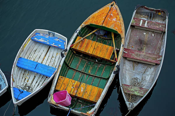 Bucket Photograph - Three Boats by Garry Gay