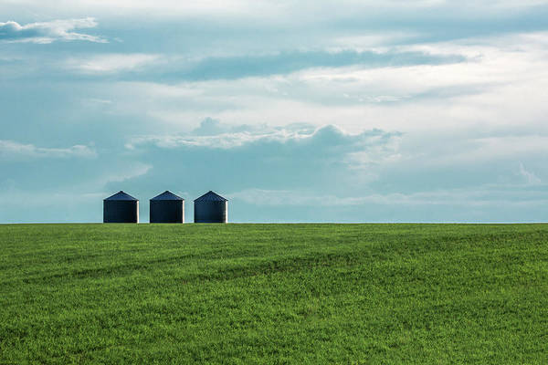 Photograph - Three Grain Bins by Todd Klassy