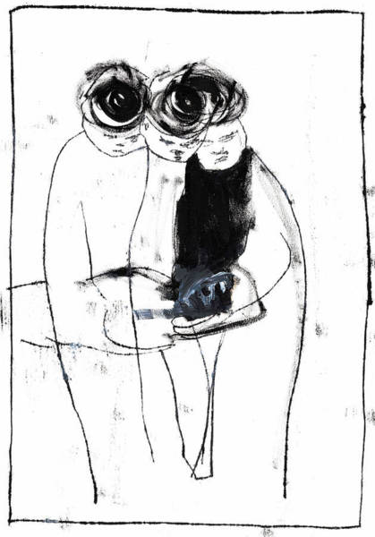 Drawing - Three Mourners by Artist Dot