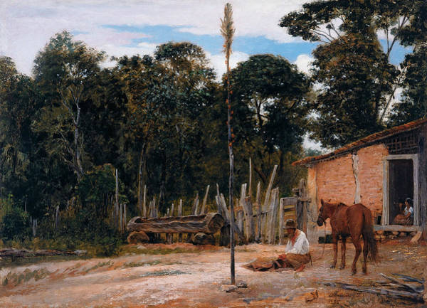 Painting - Tightening The Saddle by Almeida Junior
