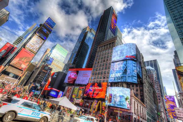 Wall Art - Photograph - Times Square Architecture by David Pyatt