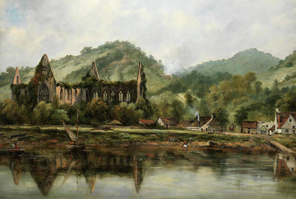 Wall Art - Painting - Tintern Abbey On The Wye by Frederick William Watts