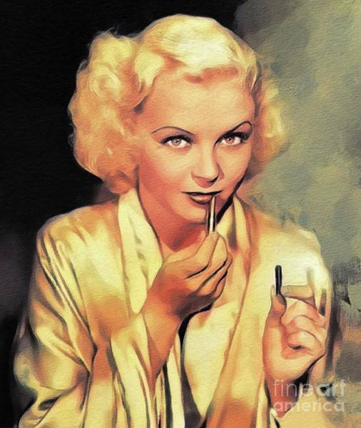 Wall Art - Painting - Toby Wing, Vintage Actress by John Springfield