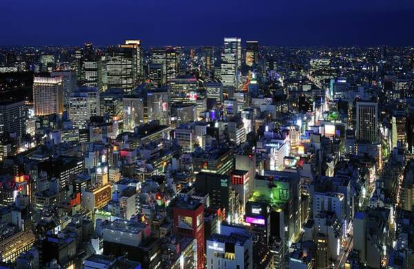 Ginza Wall Art - Photograph - Tokyo Elevated View by Vladimir Zakharov