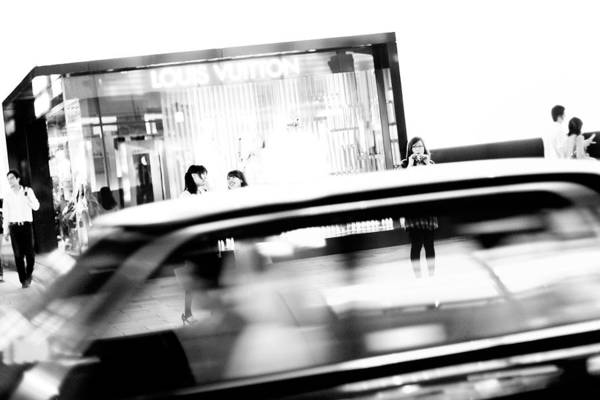 Ginza Wall Art - Photograph - Tokyo White Streetscapes From A by Chris Mcgrath