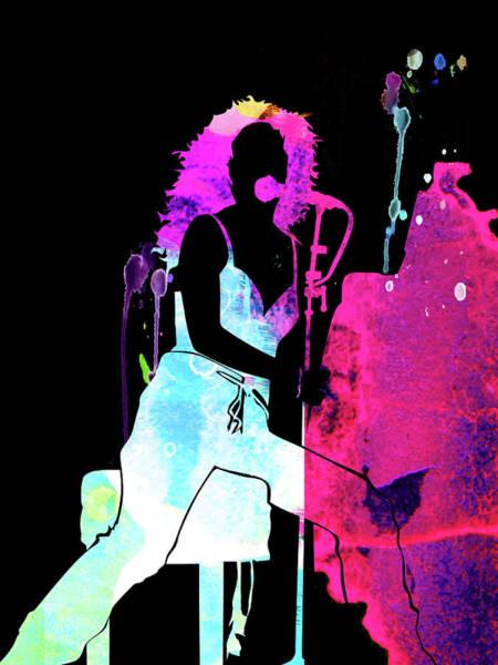 Pop Mixed Media - Tori Amos Watercolor by Naxart Studio
