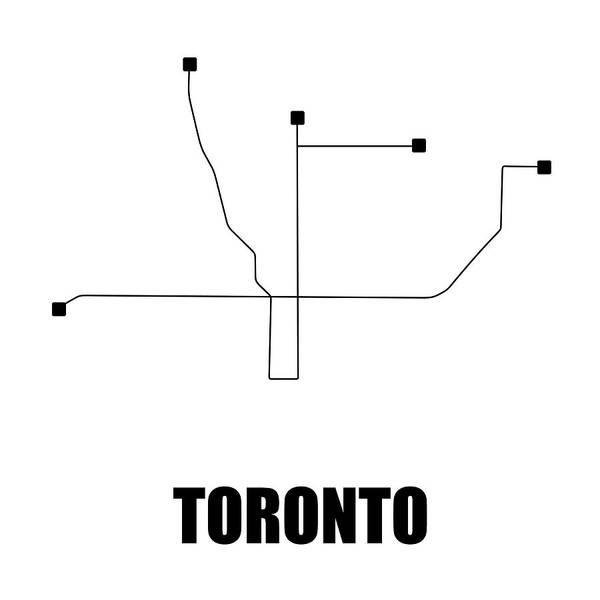 Toronto Subway Map Print.Canada Map Prints Pixels