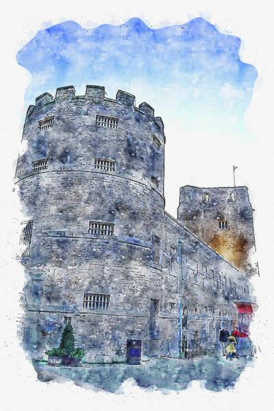 Wall Art - Digital Art - Tower #watercolor #sketch #tower #castle by TintoDesigns