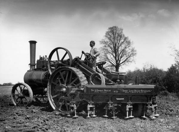 Farm Photograph - Traction Engine by Hulton Archive