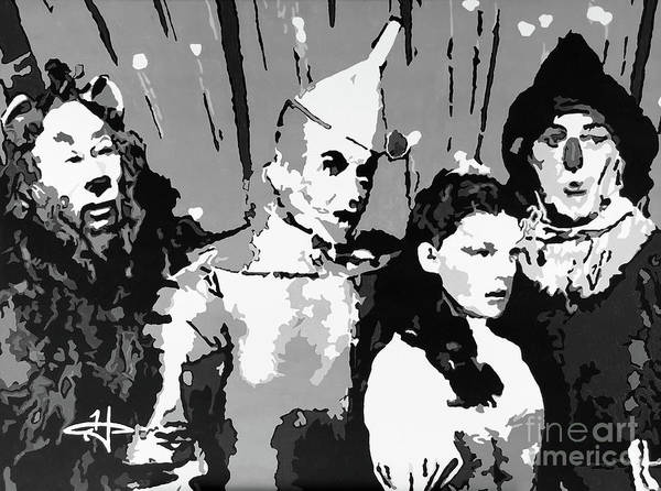 Me Too Painting - Tradition Of Oz-bw by Kelly Hartman