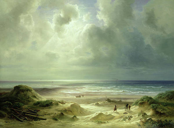 Ocean Scape Painting - Tranquil Sea by Carl Morgenstern