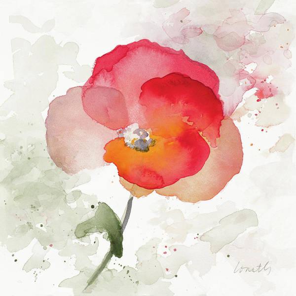 Wall Art - Painting - Translucent Poppy I by Lanie Loreth