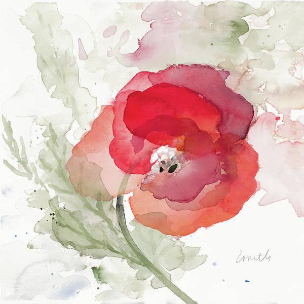 Wall Art - Painting - Translucent Poppy II by Lanie Loreth