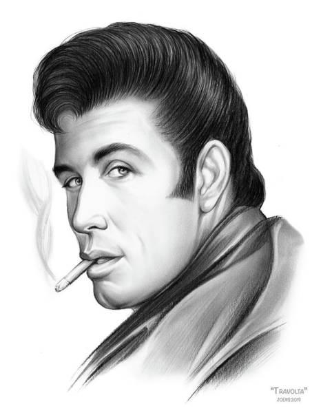 Wall Art - Drawing - Travolta by Greg Joens