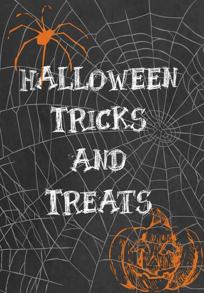 Pumpkin Digital Art - Tricks And Treats by Sd Graphics Studio