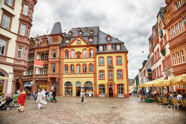 Trier, Germany,  People By Market Day Art Print