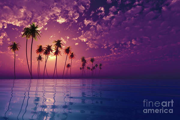 Wall Art - Photograph - Tropic Island At Sunset by Aleksey Tugolukov