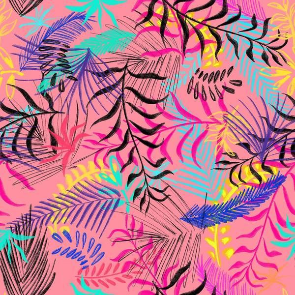 Wall Art - Painting - Tropical Leaves by ArtMarketJapan