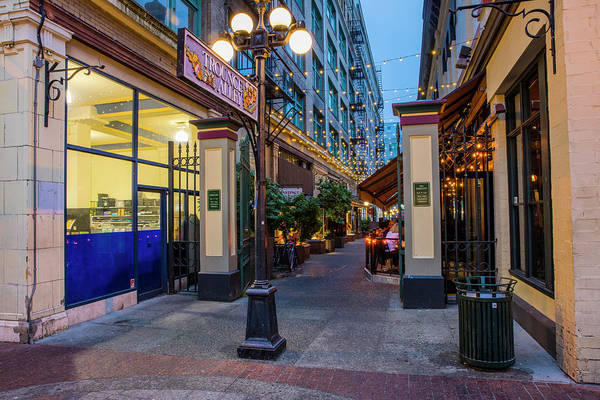 Wall Art - Photograph - Trounce Alley At Dusk In Victoria by Chuck Haney
