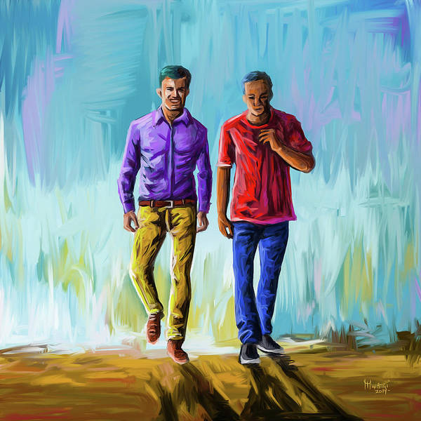 Confident Painting - True Friend by Anthony Mwangi