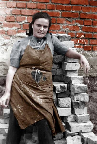 Wall Art - Photograph - Truemmerfrau 1948 Germany by imageBROKER - our-planetberlin