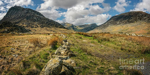 Wall Art - Photograph - Tryfan Mountain Valley by Adrian Evans