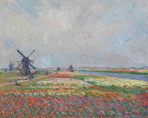 Rural Life Wall Art - Painting - Tulip Fields Near The Hague by Claude Monet