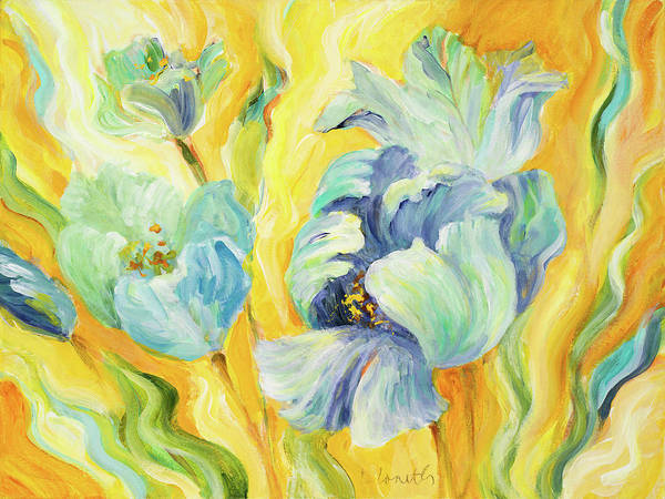 Wall Art - Painting - Tulips Sway by Lanie Loreth