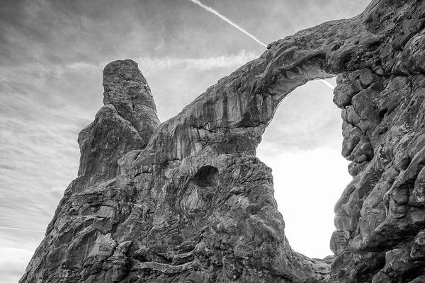 Wall Art - Photograph - Turret Arch In Arches National Park Black And White Art by Stephanie McDowell