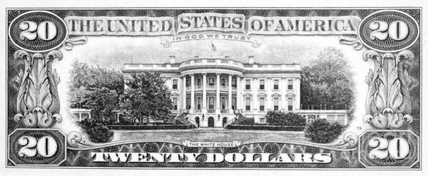 Drawing - Twenty Dollar Bill by Granger