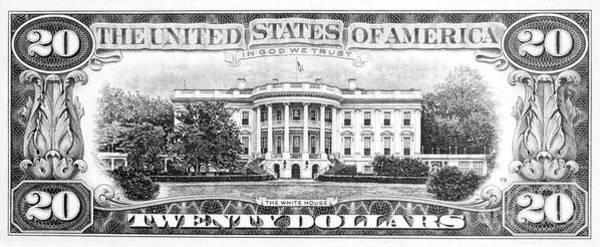 Wall Art - Drawing - Twenty Dollar Bill by Granger