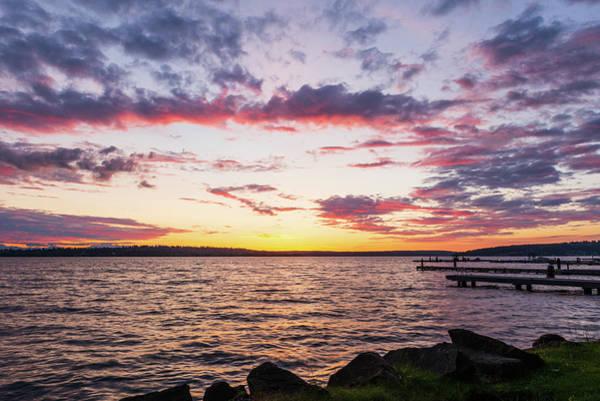Digital Art - Twilight In Lake Washington by Michael Lee