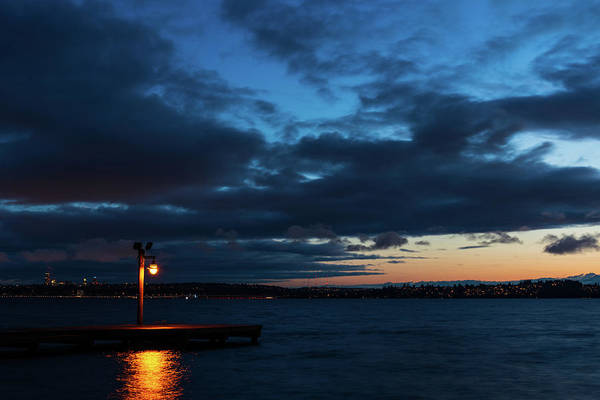 Digital Art - Twilight Moment At Lake Washington by Michael Lee
