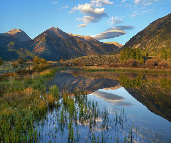 Photograph - Twin Peaks, Twin Lakes, Colorado by