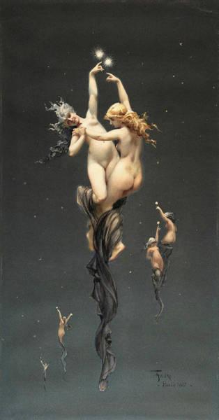 Twins Painting - Twin Stars by Luis Ricardo Falero