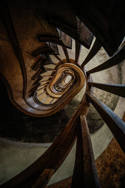 Wall Art - Photograph - Twisted Spiral Staircase by Jaroslaw Blaminsky