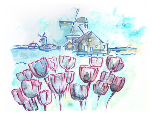 Drawing - typical Holland by Ariadna De Raadt