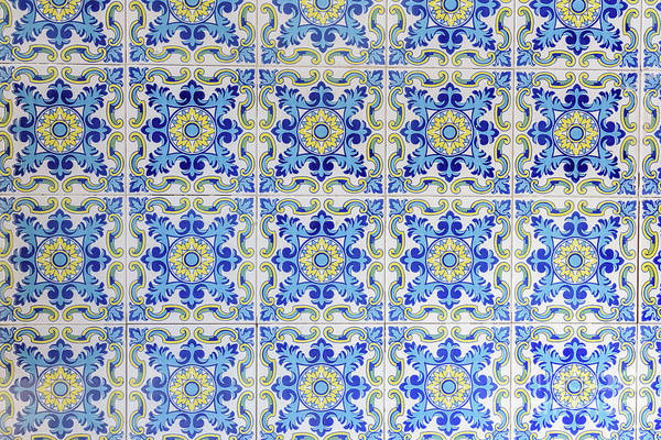 Photograph - Typical Valencian Tiles And Slabs Used To Decorate The Walls Of The Barracas. by Joaquin Corbalan