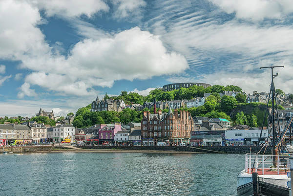 Wall Art - Photograph - Uk, Scotland, Oban Town And Harbor by Rob Tilley