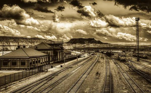 Wall Art - Photograph - Union Pacific Railroad Freight Terminal- Green River, Wyoming by Mountain Dreams