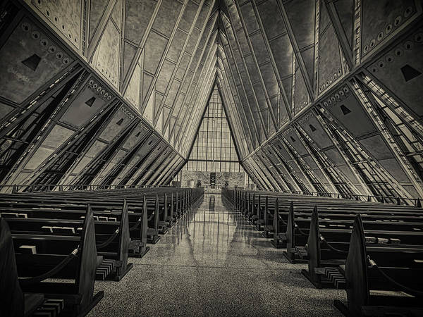 Wall Art - Photograph - United States Air Force Academy Chapel Interior by Mountain Dreams