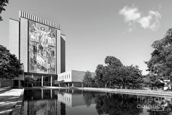 Photograph - University Of Notre Dame Hesburgh Library  by University Icons