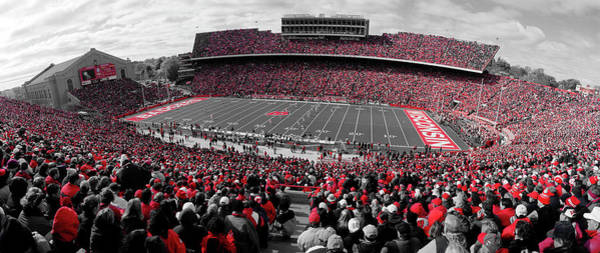 Wi Photograph - University Of Wisconsin Football Game by Panoramic Images