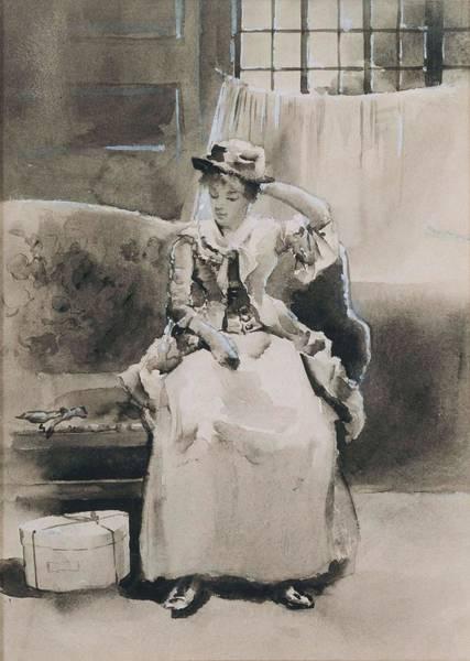 Arthurs Seat Painting - Untitled  Seated Woman   by Arthur Bowen Davies