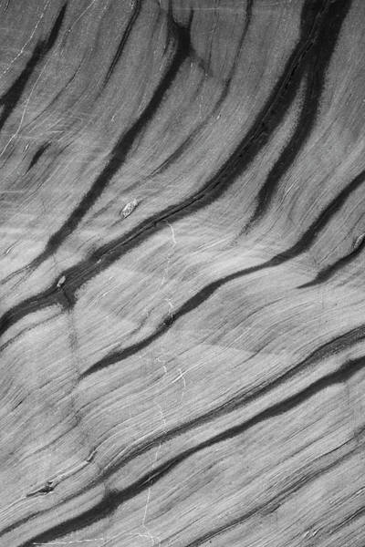 Wall Art - Photograph - Unusual Abstract Landscape Image Of Rock Texture On Beach by Matthew Gibson